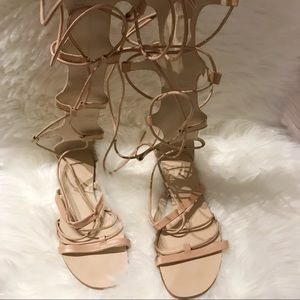 Zara nude leather strapped Sandals